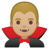 Man Vampire: Medium-Light Skin Tone on Google Android 8.1
