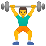 Man Lifting Weights on Google Android 8.1