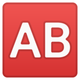 AB Button (Blood Type) on Google Android 8.1