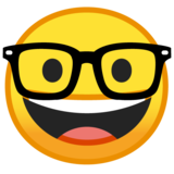 Nerd Face on Google Android 8.1