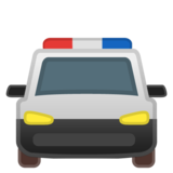 Oncoming Police Car on Google Android 8.1