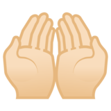 Palms Up Together: Light Skin Tone on Google Android 8.1