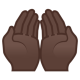 Palms Up Together: Dark Skin Tone on Google Android 8.1