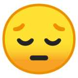 Pensive Face on Google Android 8.1