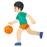 Person Bouncing Ball: Light Skin Tone on Google Android 8.1