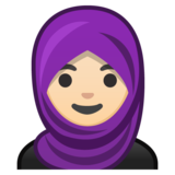 Woman With Headscarf: Light Skin Tone on Google Android 8.1