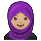 Woman With Headscarf: Medium-Light Skin Tone on Google Android 8.1