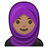 Woman with Headscarf: Medium Skin Tone on Google Android 8.1