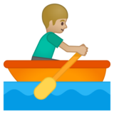 Person Rowing Boat: Medium-Light Skin Tone on Google Android 8.1