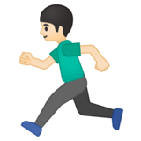 Person Running: Light Skin Tone on Google Android 8.1