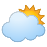 Sun Behind Large Cloud on Google Android 8.1