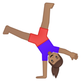 Woman Cartwheeling: Medium Skin Tone on Google Android 8.1
