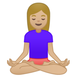 Woman in Lotus Position: Medium-Light Skin Tone on Google Android 8.1