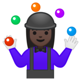 Woman Juggling: Dark Skin Tone on Google Android 8.1