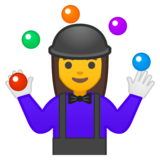 Woman Juggling on Google Android 8.1