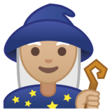 Woman Mage: Medium Skin Tone on Google Android 8.1