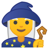 Woman Mage on Google Android 8.1