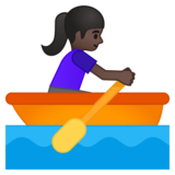 Woman Rowing Boat: Dark Skin Tone on Google Android 8.1
