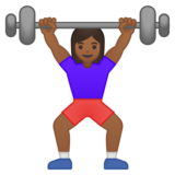 Woman Lifting Weights: Medium-Dark Skin Tone on Google Android 8.1