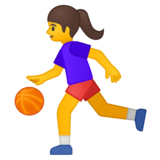Woman Bouncing Ball on Google Android 8.1