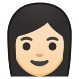 Woman: Light Skin Tone on Google Android 8.1
