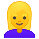 Woman: Blond Hair on Google Android 9.0