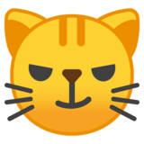 Cat with Wry Smile on Google Android 9.0