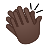 Clapping Hands: Dark Skin Tone on Google Android 9.0