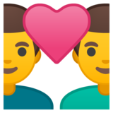 Couple with Heart: Man, Man on Google Android 9.0