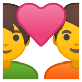 Couple With Heart on Google Android 9.0