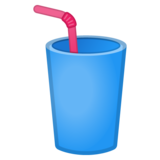 Cup with Straw on Google Android 9.0