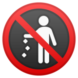 No Littering on Google Android 9.0