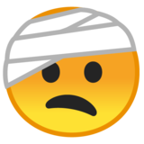 Face With Head-Bandage on Google Android 9.0