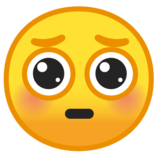 Pleading Face on Google Android 9.0