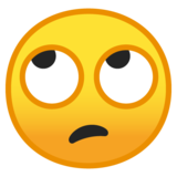 Face With Rolling Eyes on Google Android 9.0