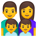 Family: Man, Woman, Boy, Boy on Google Android 9.0