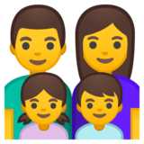 Family: Man, Woman, Girl, Boy on Google Android 9.0