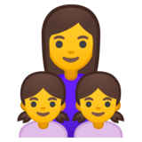 Family: Woman, Girl, Girl on Google Android 9.0