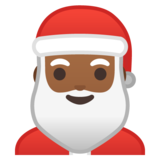 Santa Claus: Medium-Dark Skin Tone on Google Android 9.0