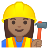 Woman Construction Worker: Medium Skin Tone on Google Android 9.0
