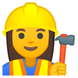 Woman Construction Worker on Google Android 9.0
