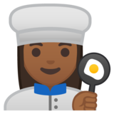 Woman Cook: Medium-Dark Skin Tone on Google Android 9.0
