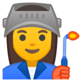 Woman Factory Worker on Google Android 9.0
