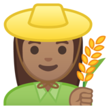Woman Farmer: Medium Skin Tone on Google Android 9.0