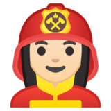Woman Firefighter: Light Skin Tone on Google Android 9.0