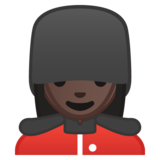 Woman Guard: Dark Skin Tone on Google Android 9.0