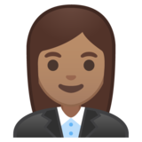 Woman Office Worker: Medium Skin Tone on Google Android 9.0