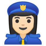 Woman Police Officer: Light Skin Tone on Google Android 9.0