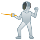Person Fencing on Google Android 9.0