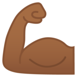 Flexed Biceps: Medium-Dark Skin Tone on Google Android 9.0